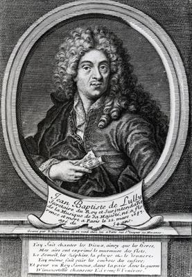 Jean-Baptiste de Lully, engraved by Etienne Desrochers