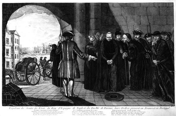 The Expulsion of the Jesuits from the Kingdoms of Spain and Naples and the Duchy of Parma; their Orders banned in France and Portugal, c.1770s