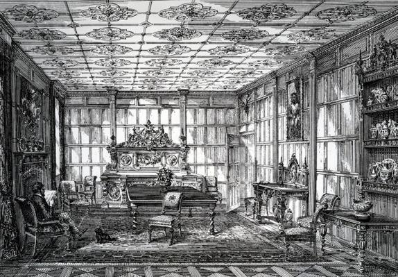 Elizabethan Dining Room, published in 'The House-Furnisher & Decorator, October 1 1872