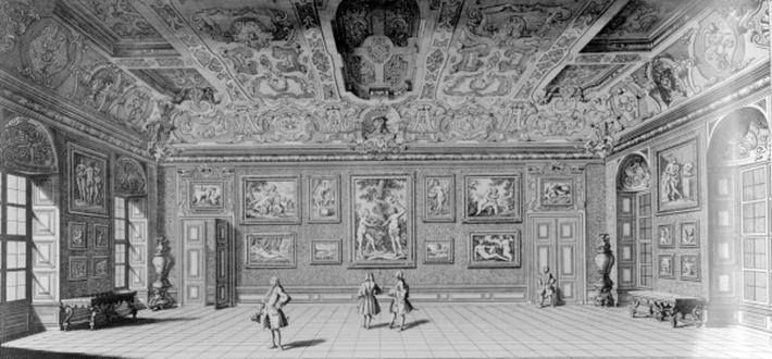 Picture Gallery at Belvedere, Vienna, published in 'Wondrous war and victory encampment of the supreme hero of our age Eugene Francis Duke of Savoy and Piedmont', c.1731-1740