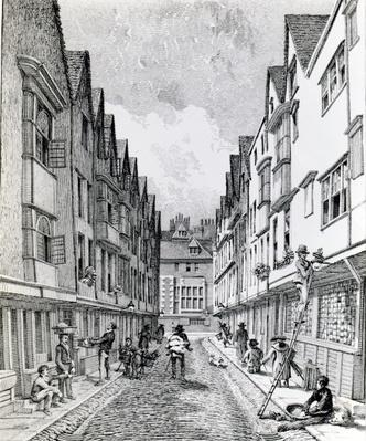 Winchester Street, London Wall, published 1814