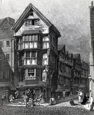 Houses Lately Standing on the West Corner of Chancery Lane, Fleet Street, published in 1812