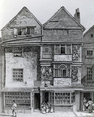 Houses on the South Side of a Street called London Wall, published 1812