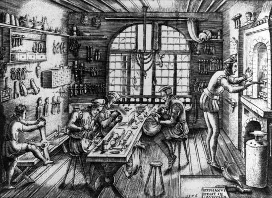 A Goldsmith's Workshop, 1576