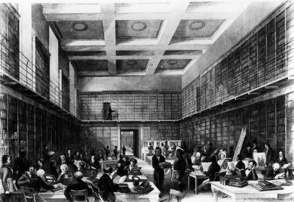 The Sixth Reading Room of The British Museum, published in 'London Interiors', 1841