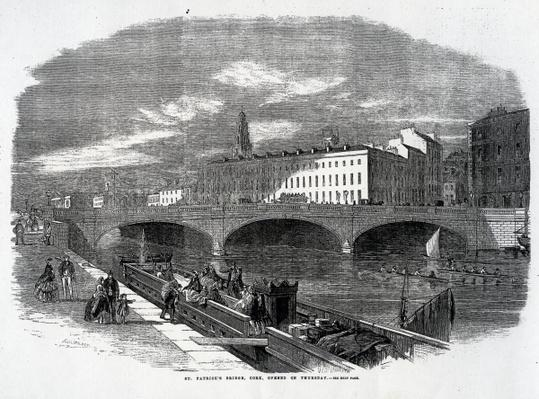 St. Patrick's Bridge, Cork, Opened on Thursday, engraved by T.N. Wilson, published in 'The Illustrated London News', December 14 1861