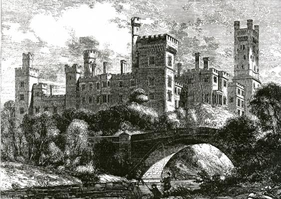 Lismore Castle, published in 'Building News', 1858