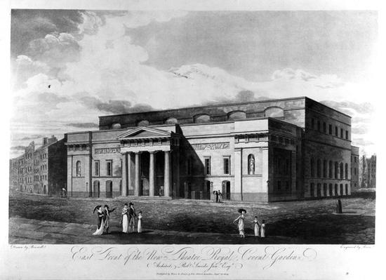 East Front of the New Theatre Royal, Covent Garden, engraved by Richard Reeve, 1809