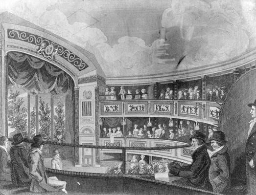 The Interior of the Olympic Theatre near Drury Lane, engraved by Henry Richard Cook, 1816