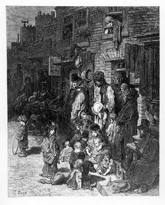 Wentworth Street, Whitechapel, from 'London, A Pilgrimage' by William Blanchard Jerrold, 1872