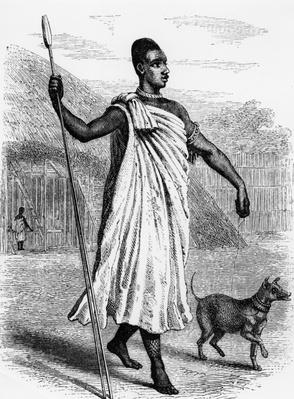 Muteesa I of Buganda, illustration from 'The Discovery of the Source of the Nile' by John Hanning Speke, published in 1863