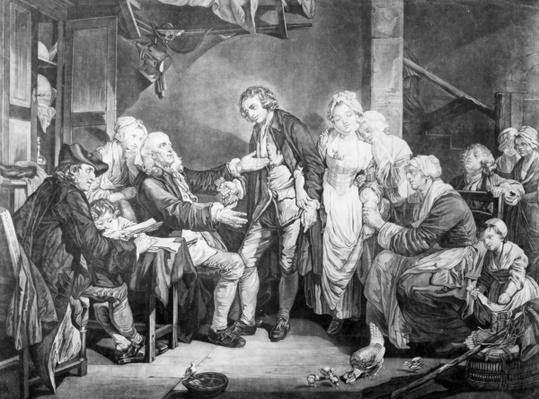 Nuptial Blessing, engraved by Samuel De Wilde, 1777