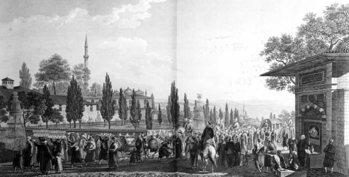 Ceremonie d'une noce Turque, from 'Voyage Pittoresque de Constantinople et des rives du Bosphore', 1819
