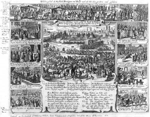 Marriage celebrations of Wolfgang Wilhelm, Count Palatine of Neuburg and Magdelene of Bavaria in 1613