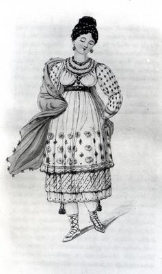 A lady of Lima in her wedding dress