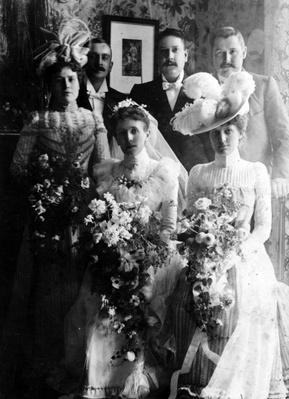 Edwardian brides and bridegrooms
