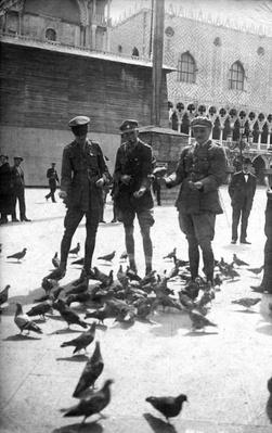 British soldiers in Venice during WWI