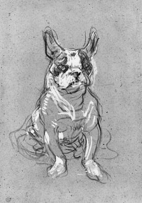 'Bouboule', the bulldog of Madame Palmyre at La Souris, 1897