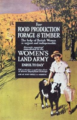 Poster for the Women's Land Army, c.1914-18