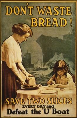 Don't Waste Bread, WWI poster, 1917