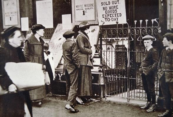 WWI The Home Front: food shortage in Britain