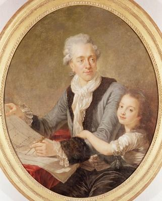 Portrait of the architect Ledoux and his daughter