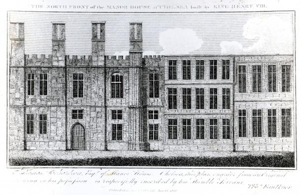 The North Front of the Manor House at Chelsea built by King Henry VIII