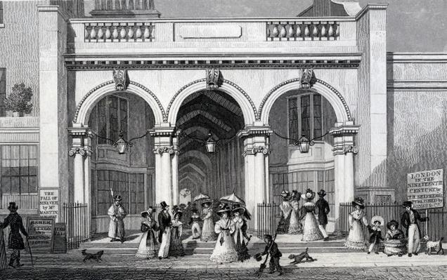Burlington Arcade, Picadilly, engraved by William Tombleson, 1828