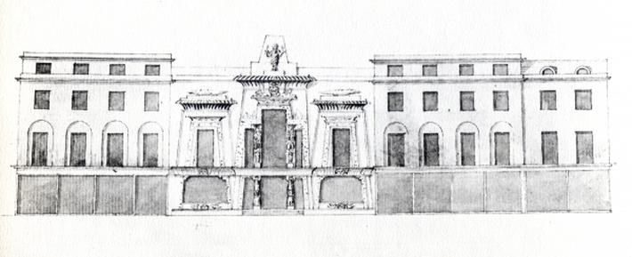 Proposal for the Egyptian Hall, Picadilly, 1810