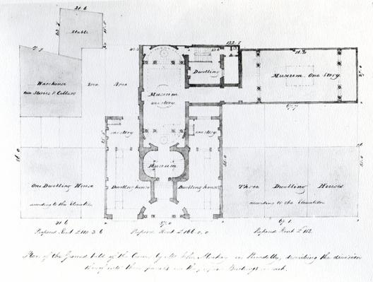 Proposed Floor Plan for the Egyptian Hall, Picadilly, 1810