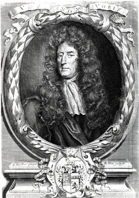 Sir Roger L'Estrange, engraved by Robert White, 1684