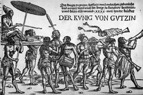 Der Kunig von Gutzin, print made by Georg Glockendon, 1511