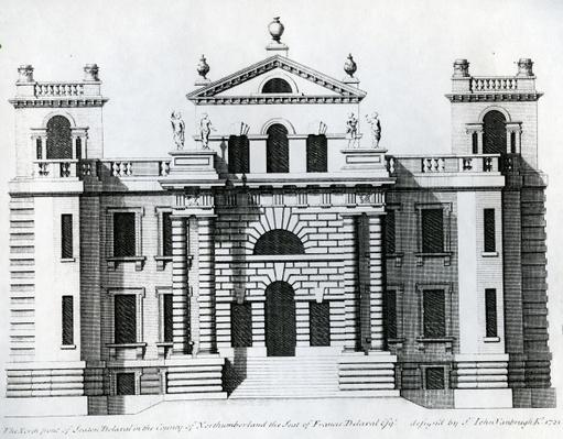 Design for Seaton Delaval, 1721
