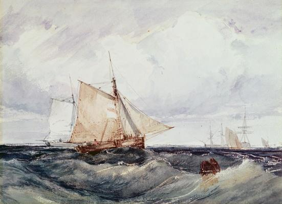 A Cutter and other Ships in a Strong Breeze