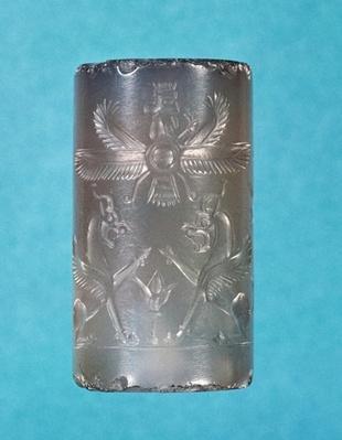 Achaemenid cylinder seal, Persian dynasty, 7th century BC