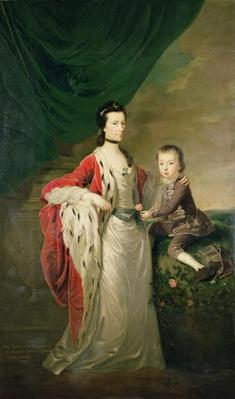 Mary, Countess of Shaftsbury and her Son, Anthony Ashley Cooper