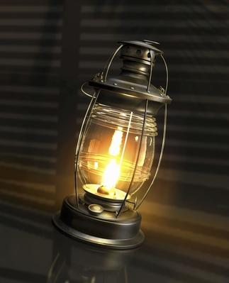 Illuminated Glowing Paraffin Lamp | Earth's Resources