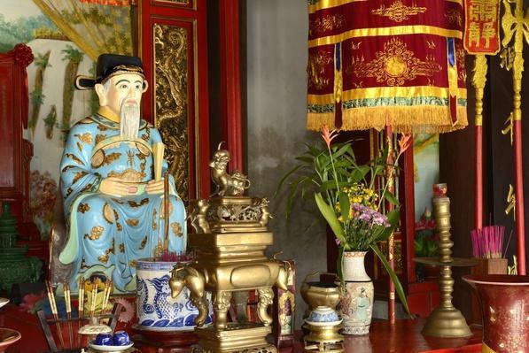 Confucius, Quan Cong temple, Hoi An, Vietnam, Indochina | World Religions: Confucianism