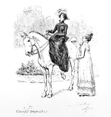 'Cheerful prognostics', illustration from 'Pride & Prejudice' by Jane Austen, edition published in 1894