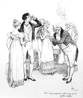 'Such very superior dancing is not often seen', illustration from 'Pride & Prejudice' by Jane Austen, edition published in 1894