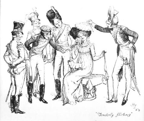 'Tenderly flirting', illustration from 'Pride & Prejudice' by Jane Austen, edition published in 1894
