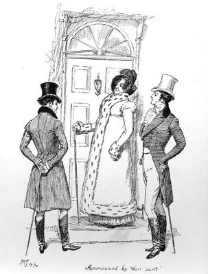 'Accompanied by their aunt', illustration from 'Pride & Prejudice' by Jane Austen, edition published in 1894