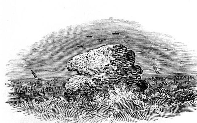A Rock with Boats from 'History of British Birds', c.1804