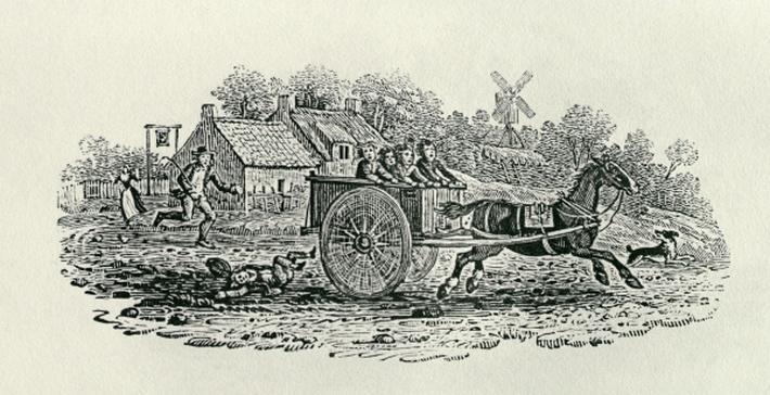 Runaway Cart from 'Land Birds, c. 1797