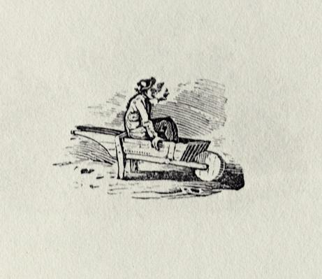A Man in a Wheelbarrow from 'History of British Birds and Quadrupeds' publ 1815?