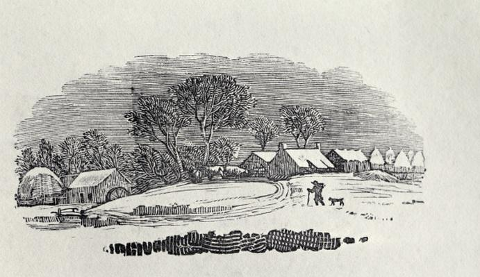 Approaching a Village in the Winter, from 'Quadrupeds', 4th edition, 1800