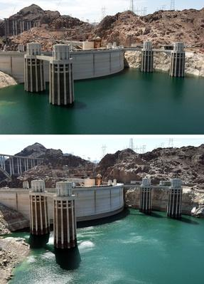 Before And After: Lake Mead And The Drought | Human Impact on the Physical Environment | Geography
