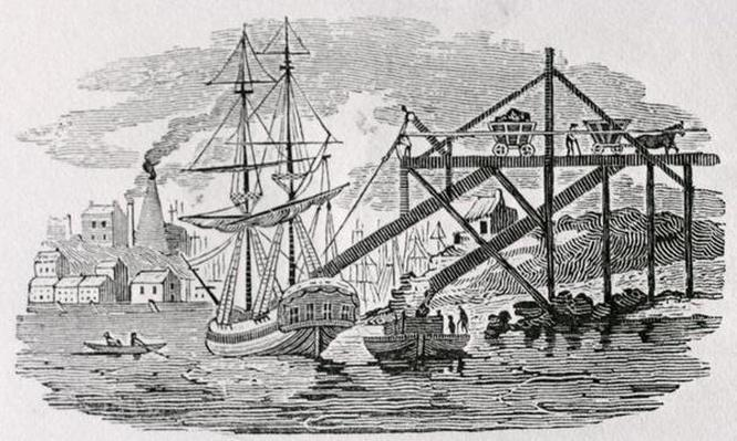 Loading Coal on Cargo Ships from 'History of British Birds and Quadrupeds'