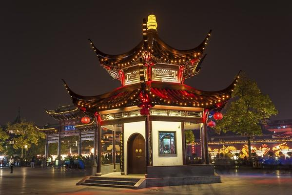 The pavilion at night in Confucian Temple | World Religions: Confucianism