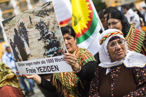 Yazidis And Syrian Christians Protest ISIS Violence | Conflicts: Syria